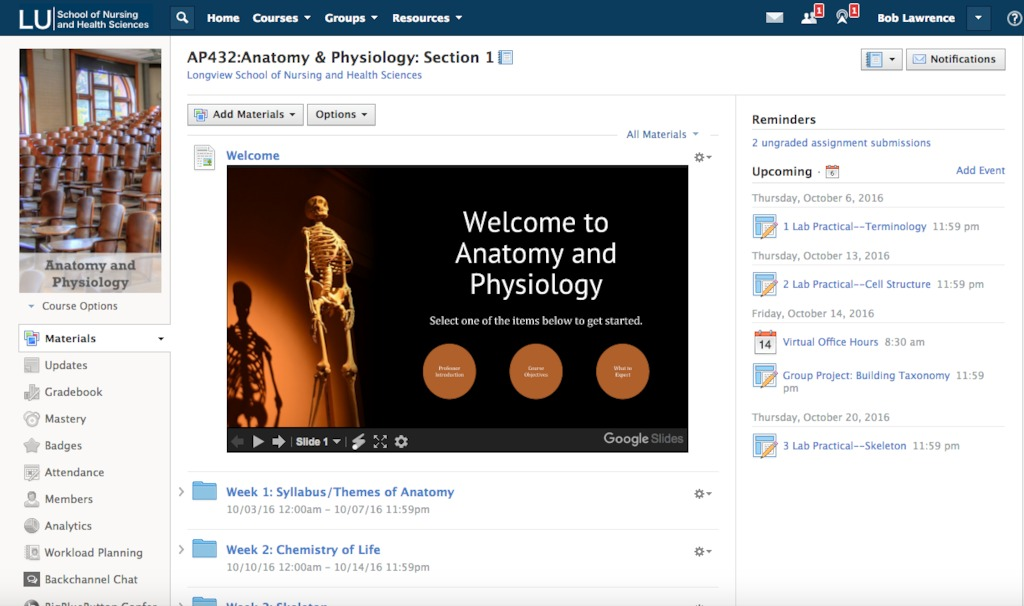 Easily share digital course materials with students, courses and sections through Schoology's Learning Management System.