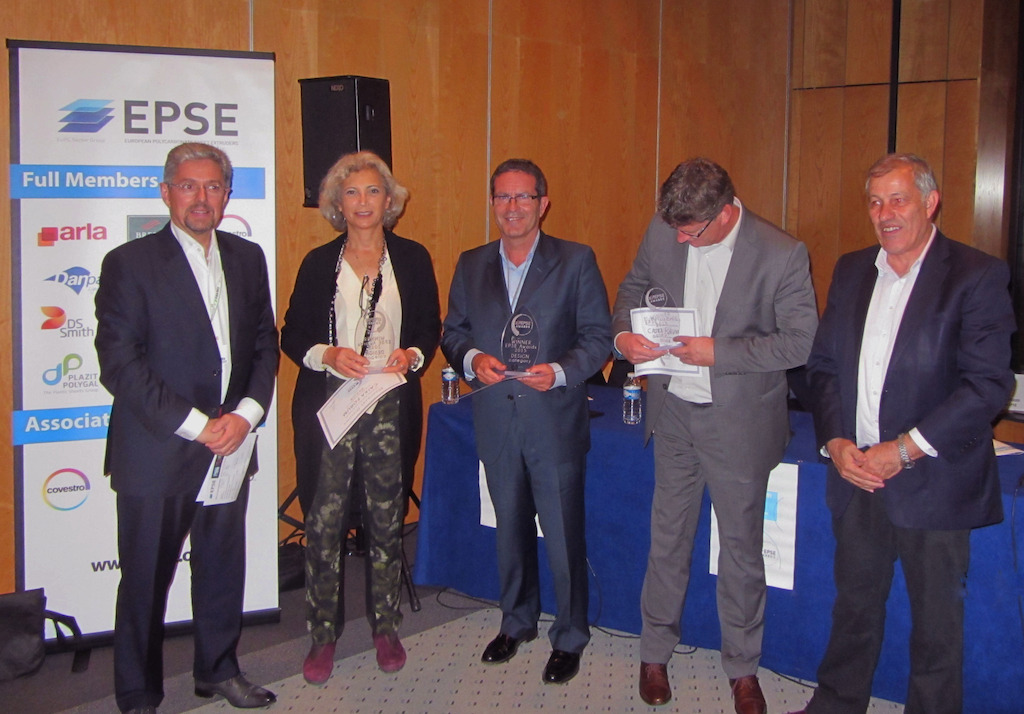 Design Category winning team. From the left: F. Midy (Jury President), C. Pinos (Estudio Carme   Pinos), J.M. Riutort (GET), P. van den Bleek (SABIC),H. Goldman (EPSE President)