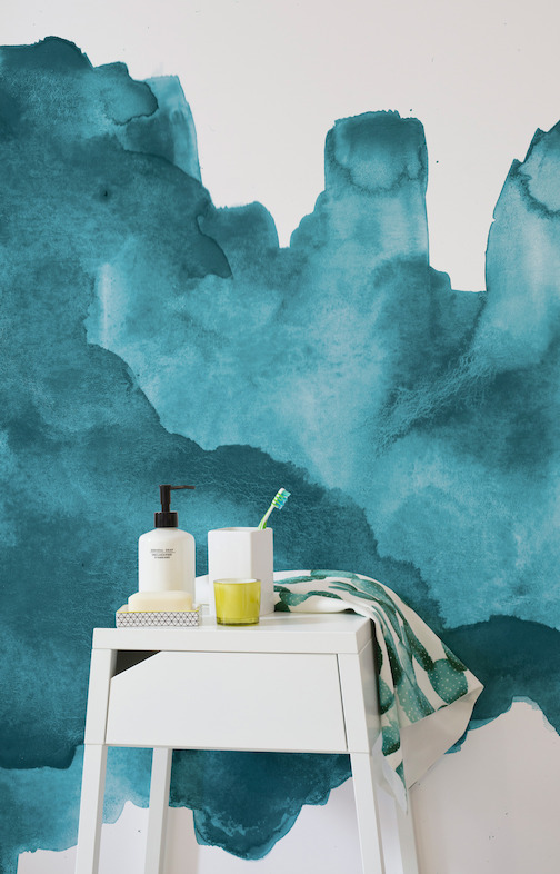 Teal Watercolour - Lifestyle