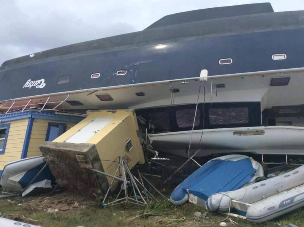 Destruction on the British Virgin Islands in the wake of Hurricane Irma.