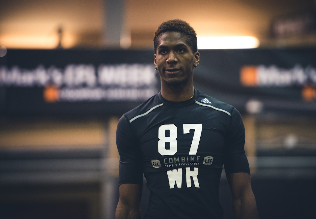 Malcolm Carter at the CFL Combine presented by adidas. Photo credit: Johany Jutras/CFL