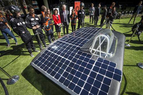 ANU unveils its first solar car to compete in World Solar Challenge