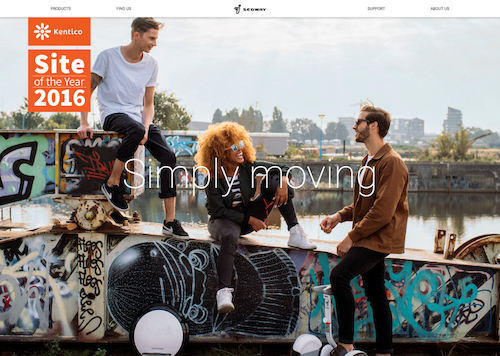 Preview: Emakina wint Kentico Site Of The Year Award met Segway Europe