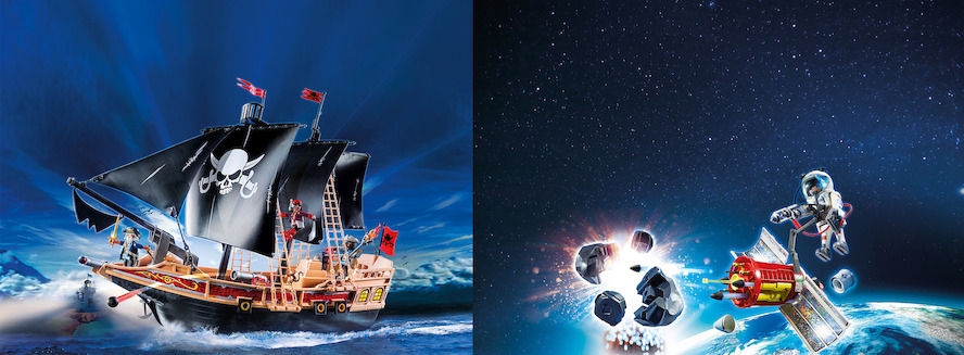 PLAYMOBIL® - Piraten in de ruimte en astronauten op zee...