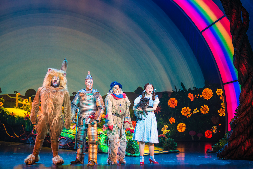 "Aaron Fried as Lion, Jay McGill as Tin Man, Morgan Reynolds as Scarecrow and<br/>Sarah Lasko as Dorothy in ""We're Off to Meet the Wizard""<br/>Photo credit: DANIEL A. SWALEC"