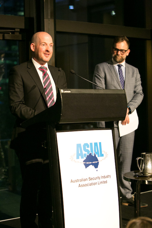 Phil Marr, Gallagher National High Security Manager (Australia) accepting the Product of the Year Award