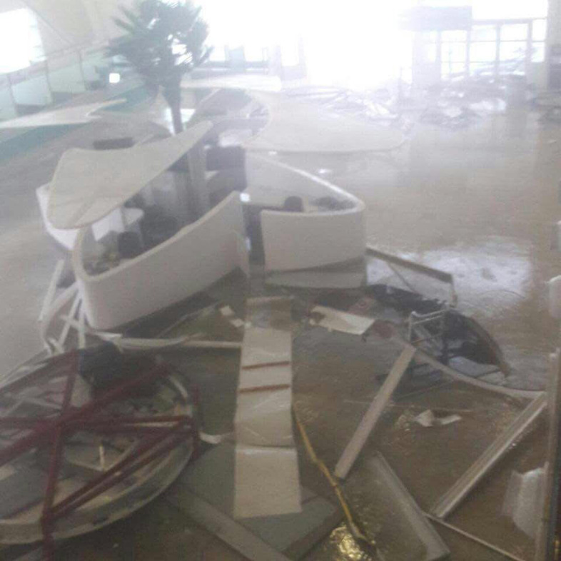 Scenes from St Maarten's Airport in the aftermath of Hurricane Irma.