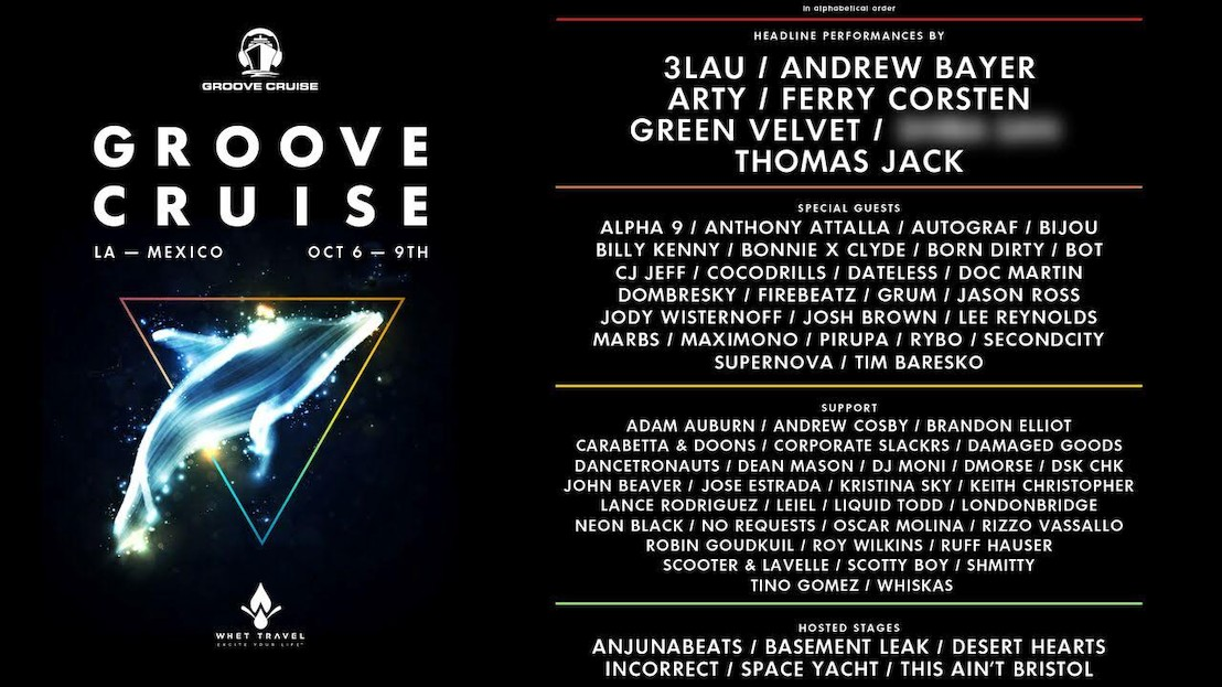 Groove Cruise 2017 Announces Phase One Lineup For LA Sailing Oct 6th-9th Weekender