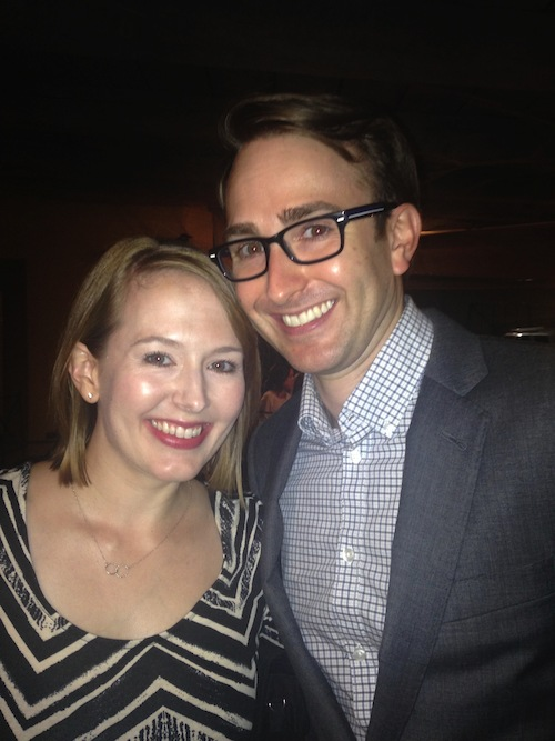 Amy Schloerb with her husband, director Michael May.