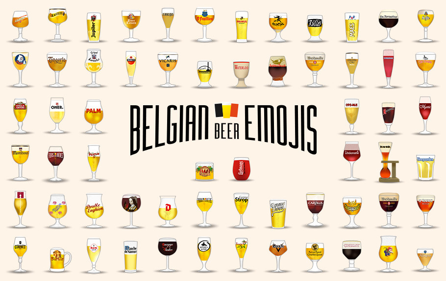 Forget the ordinary beer mug: here come the Belgian beeremojis