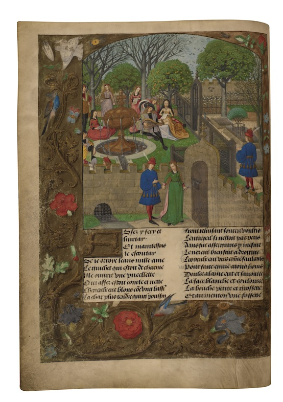 In Search of Utopia © Master of the Prayer Books of around 1500, The Lover Entering the Garden of Delights In: Guillaume de Lorris and Jean de Meung, Le Roman de la Rose, Brugge, c.1490–1500. London, The British Library.