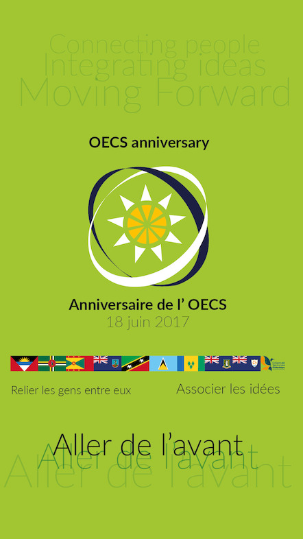 Official banner of the 36th anniversary of the OECS. © Collectivity of Martinique