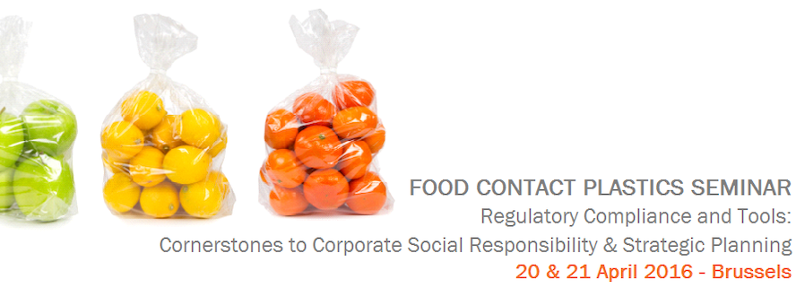 Food Contact Plastics Seminar: 20 & 21 April 2016