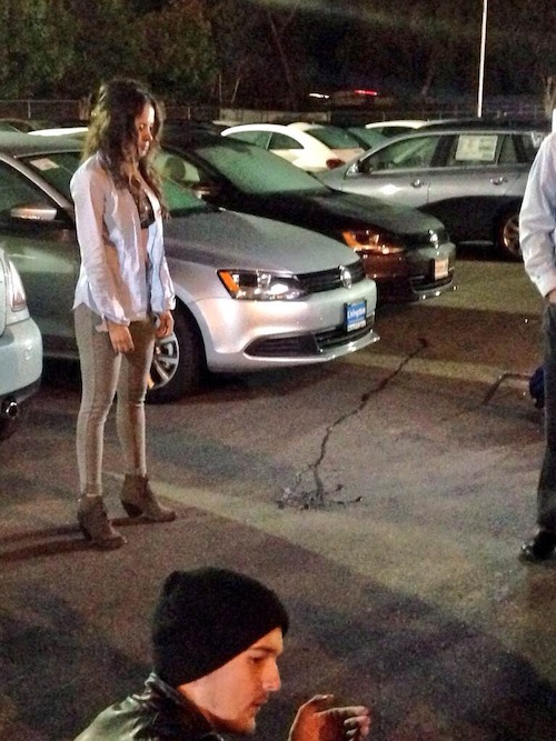 "Production shot from ""The Girl"""