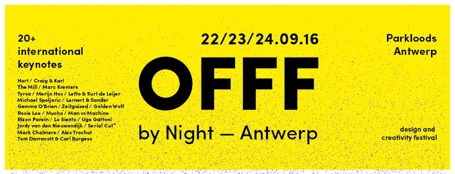 Scoop! OFFF is coming to Antwerp in September