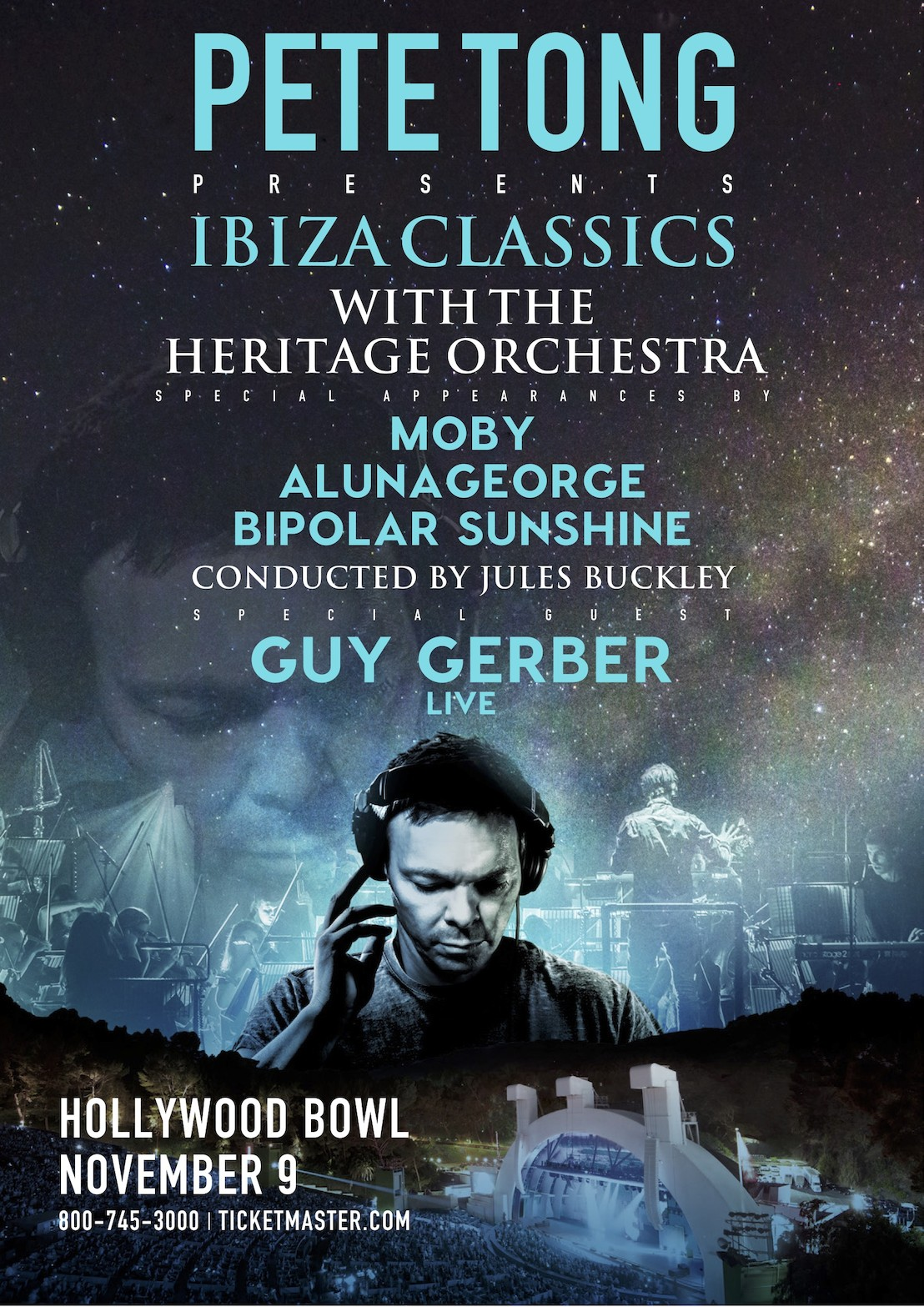 Moby, AlunaGeorge, and Bipolar Sunshine join Pete Tong at Hollywood BowlTONG HBOWL V10