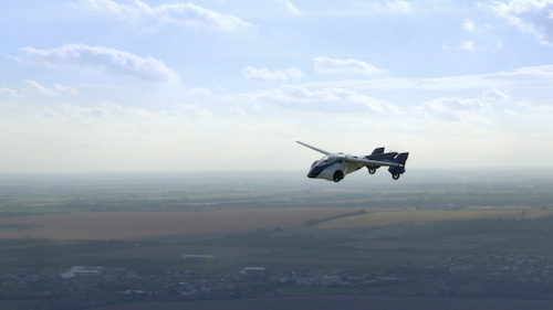 AeroMobil 3.0 first flight - over horizon