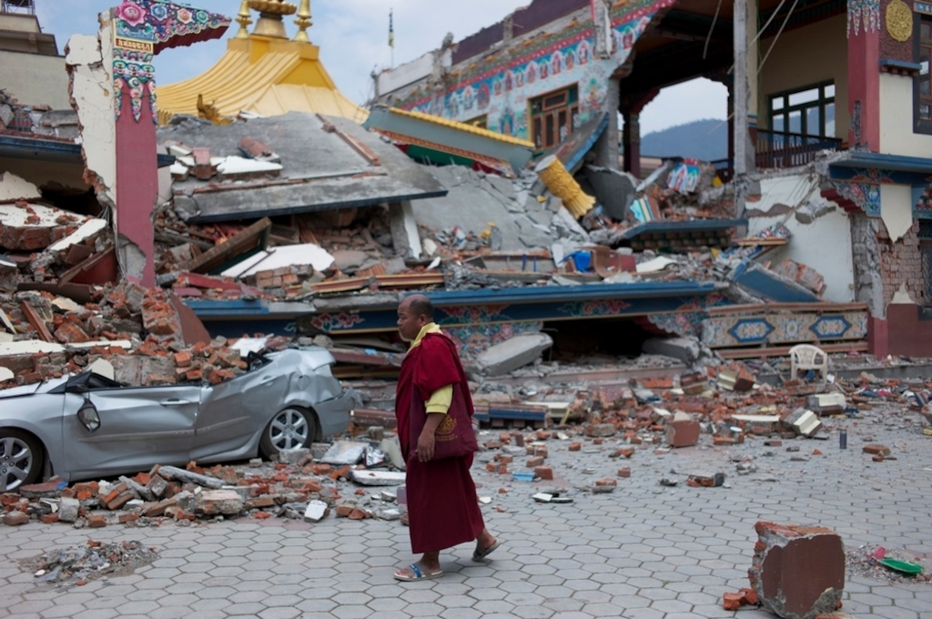 System identifier<br/>: MSF145012<br/>Title<br/>: Kathmandu, Nepal<br/>Photographer / cameraman<br/>: Jean-Paul Delain<br/>Countries:<br/>Nepal Description:A giant earthquake struck Nepal on the morning of Saturday April 25th. Thousands are confirmed dead with many more injured and homeless.MSF teams and equipment have already arrived in the country, and more are on their way. Kathmandu has experienced relatively little destruction, with the vast majority of buildings still standing. However, many people are sleeping outside in tents and makeshift shelters as they are afraid to be inside due to aftershocks. This is a concern given that storms are expected over the coming days.