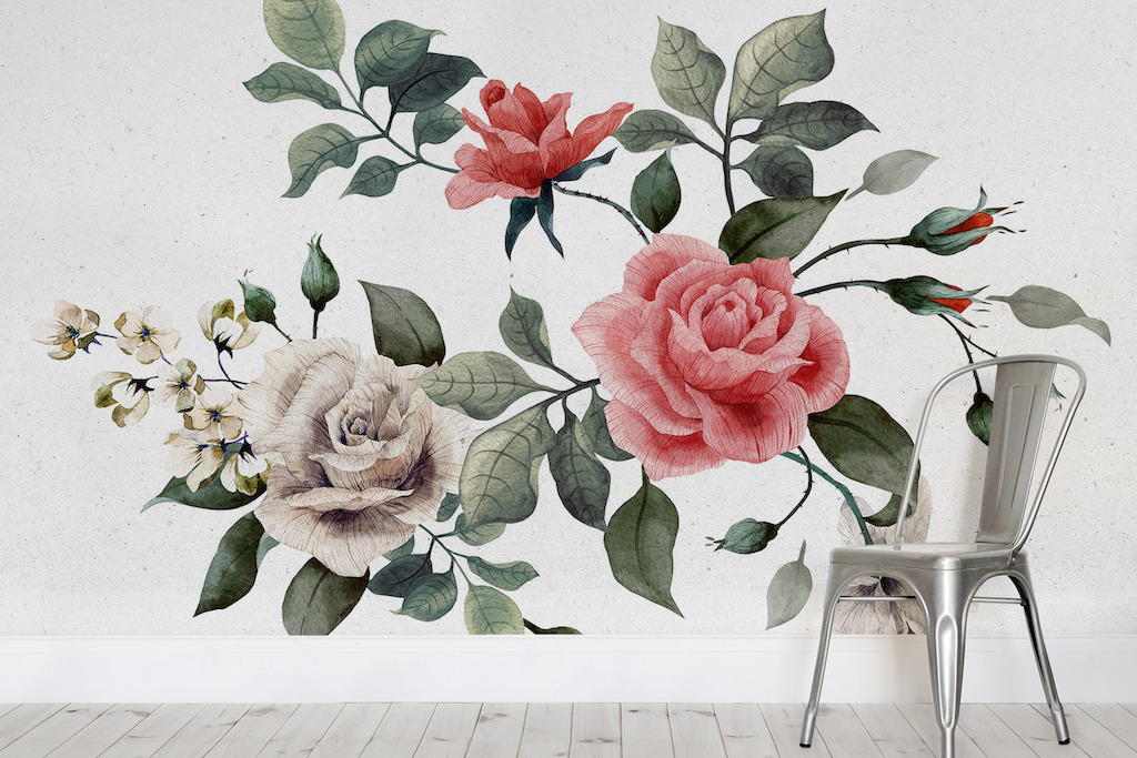 Queen Elizabeth Rose Mural