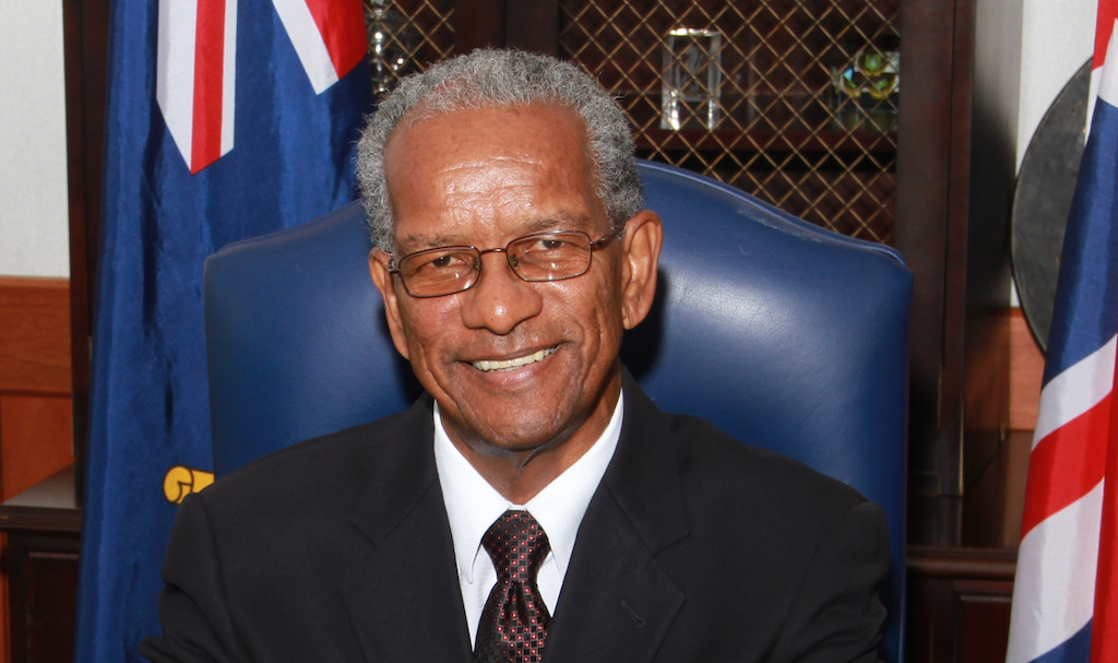 Dr. the Honourable D. Orlando Smith, OBE, Premier of the British Virgin Islands