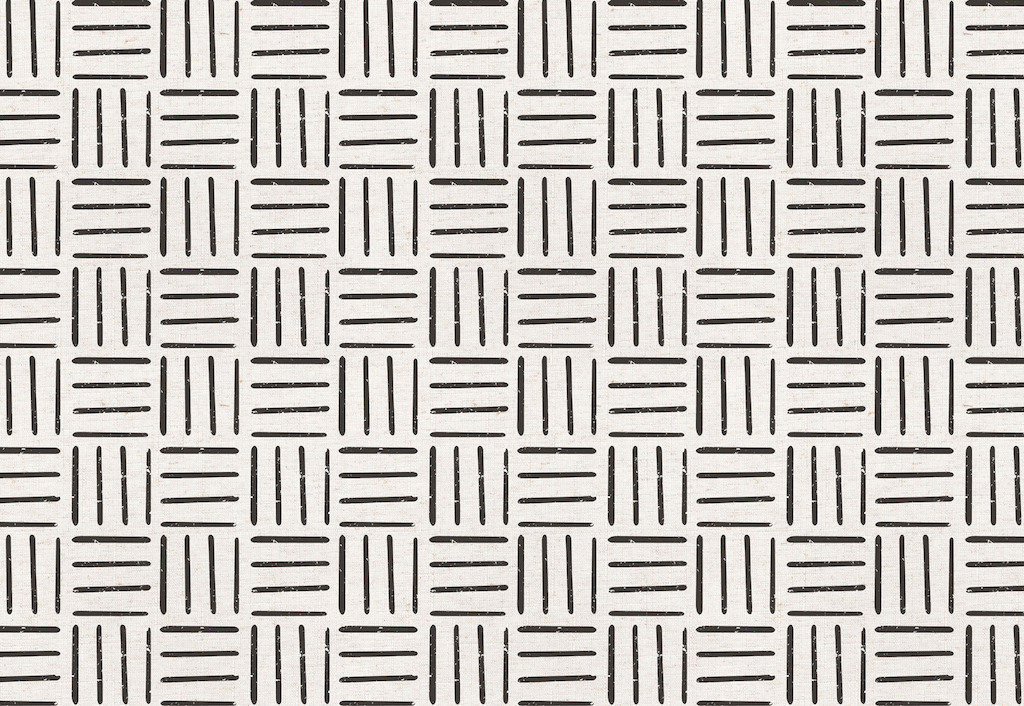 Black and White Tribal Lines Wallpaper
