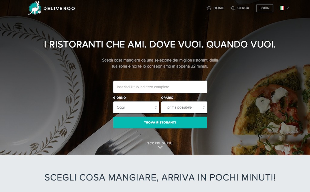 Home Page Deliveroo