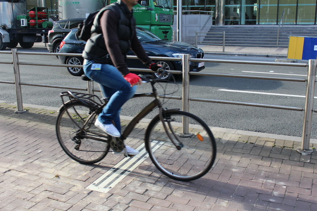 first bicycle counter pole