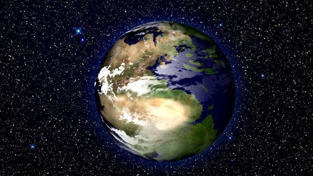 Artist's impression of Pangaea. Image: sirtommoore, Youtube.