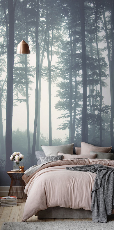 Sea of Trees Wallpaper Mural