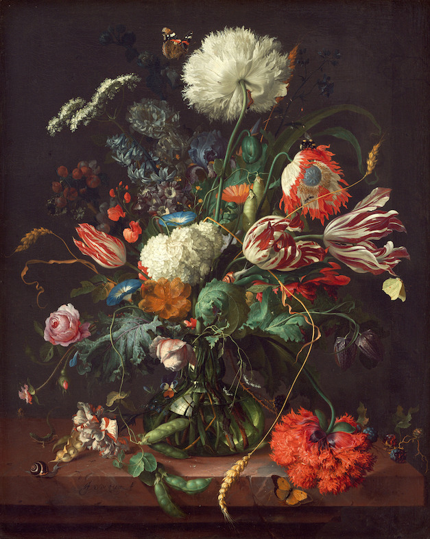 Vase of Flowers by De Heem