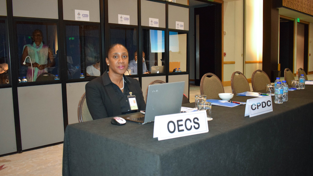 OECS Representative, Mrs. Norma Cherry-Fevrier, Programme Officer in the Social & Environmental Development Division.