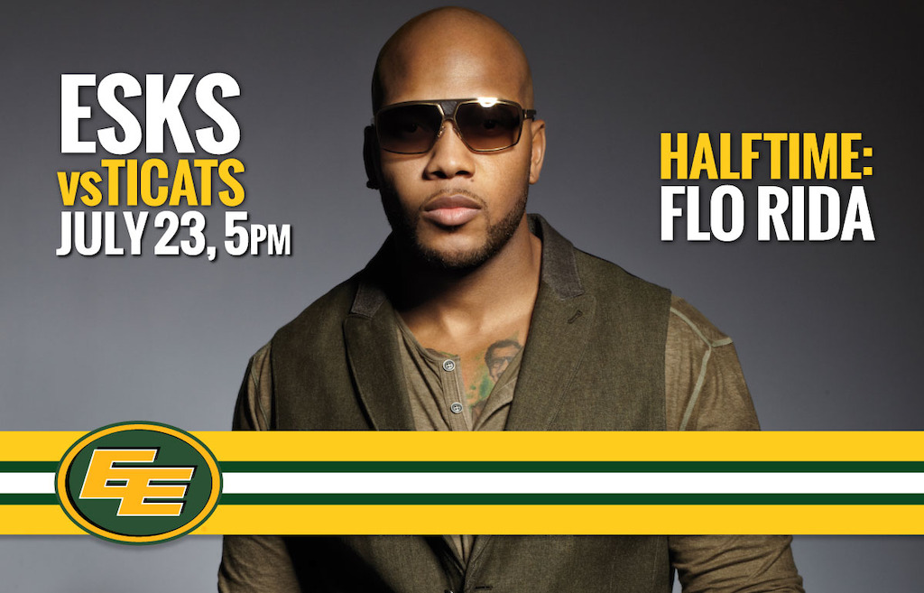 Flo Rida to perform during Nissan halftime when the Edmonton Eskimos take on the Hamilton Tiger-Cats this Saturday, July 23.
