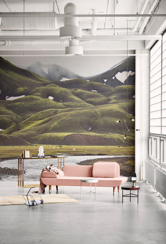 Icelandic Mountain Wallpaper Mural