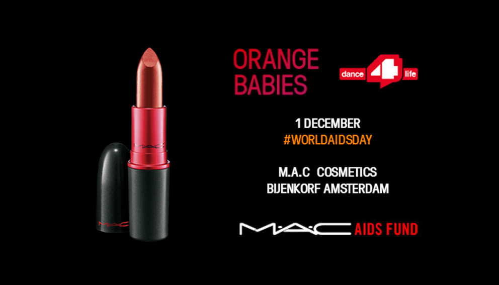 M.A.C Cosmetics, Orange Babies en dance 4 life bundelen krachten tegen strijd HIV & Aids