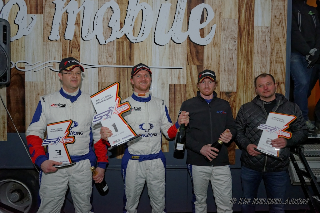 Left to right : Patrick Hein, Raf Van Belle & Jerome Farinaux_Podium Round #2 Ladbrokes SRX Cup_Mettet_19/03/2017