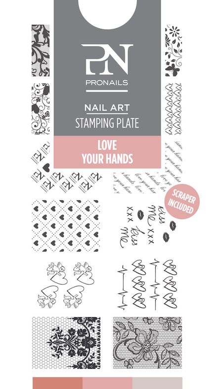 Stamping Plate Love your Hands 14,50 €