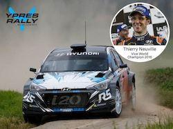 Thierry Neuville au départ du Rallye d'Ypres 2017