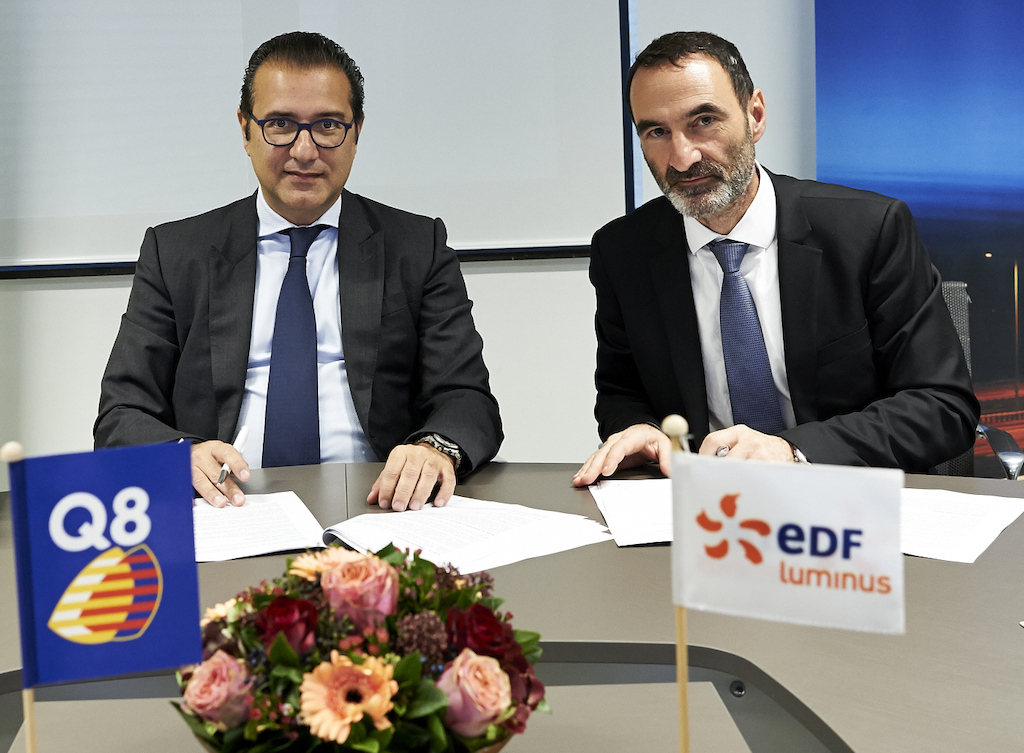 Azzam Al Mutawa, Managing Director, Q8 Northwest Europe and<br/>Pierre de Firmas, Chief Strategy &amp; Business Development Officer, EDF Luminus