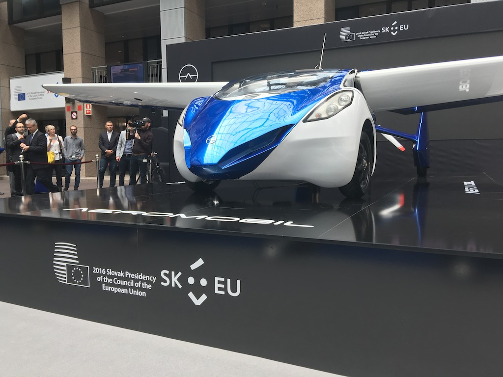 AeroMobil prototype as a part of the Slovak visual presentation during the Presidency of the Council of EU.