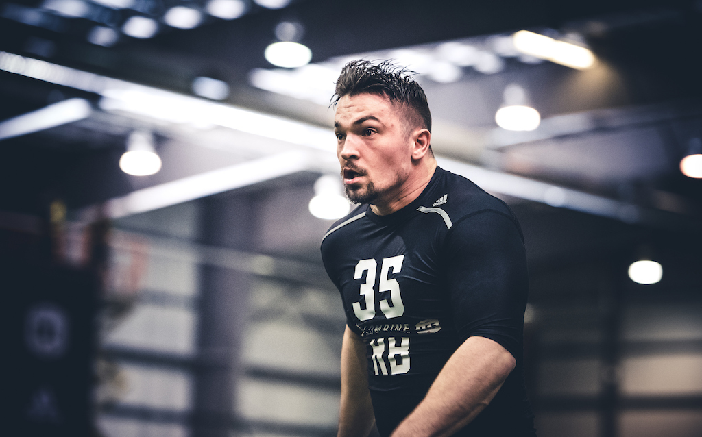Anthony Gosselin at the CFL Combine presented by adidas. Photo credit: Johany Jutras/CFL