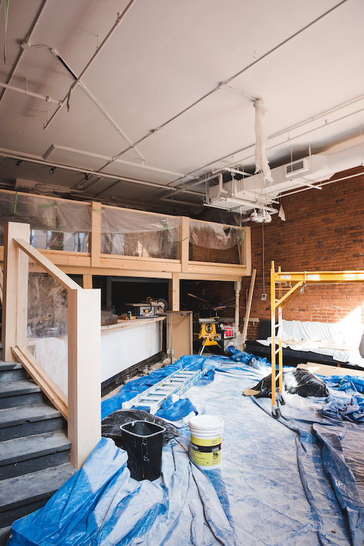 &#039;ONO Raw Bar under construction<br/>Kalu Interiors<br/>Julie Row Photography