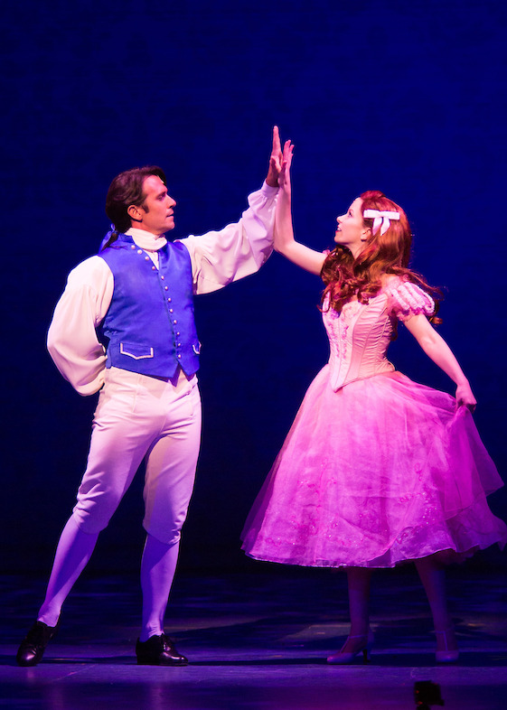 Eric Kunze as Prince Eric and Alison Woods as Ariel. Photo by Bruce Bennett, courtesy of Theatre Under The Stars