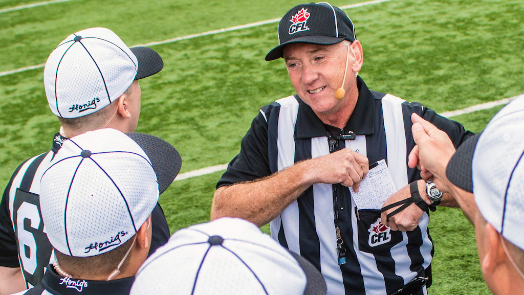 NFL-CFL officiating development program announced. Photo: (Arthur Ward/CFL.ca)