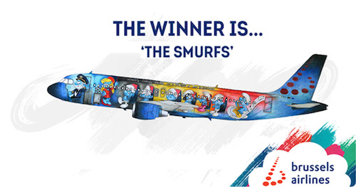 The Smurfs to become Brussels Airlines 5th Belgian Icon