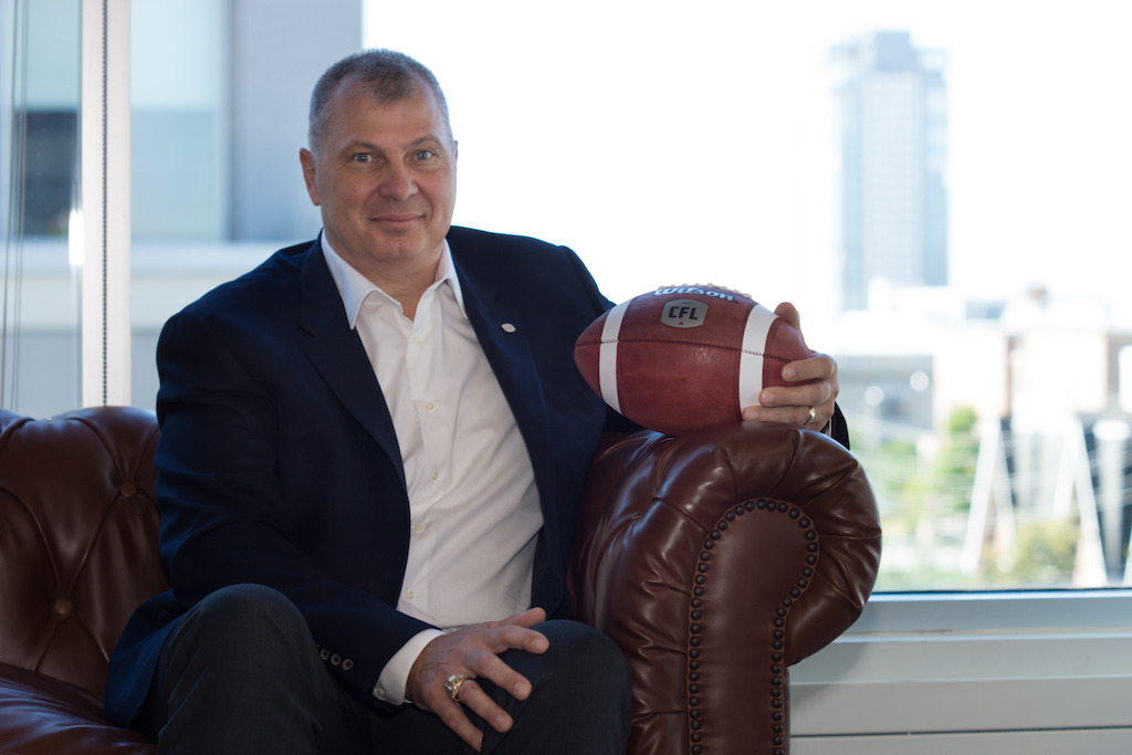 CFL Commissioner Randy Ambroise. Photo:  Danny Gibson
