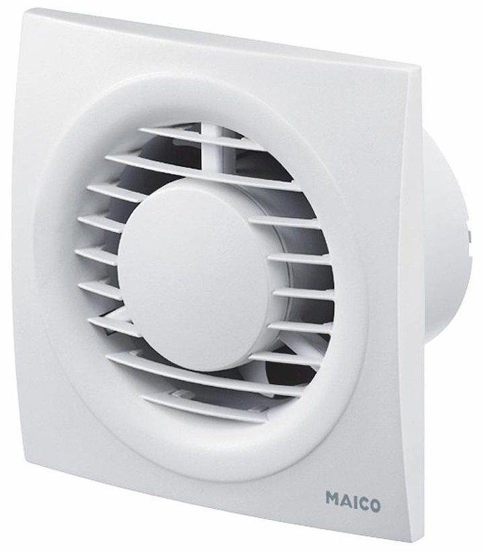 Example of a bathroom fan. (Illustration source: Maico)
