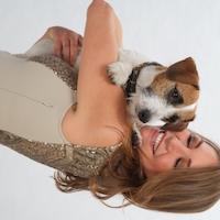 Tessa Gelisio con il suo cane