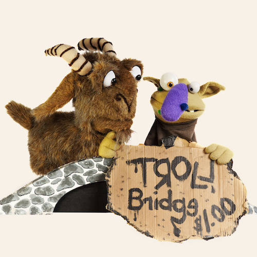 Billy Goats Gruff & Other Stuff crosses the bridge to the Center for Puppetry Arts, August 10 – 13