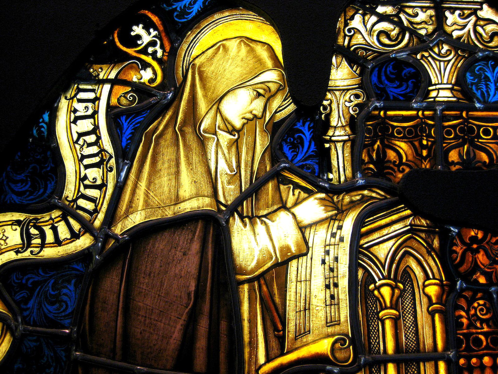 Hildegard von Bingen, A crusader for independence among her fellow nuns, Hildegard von Bingen wrote more than 70 works as a  Benedictine nun in the 12th century. A woman of diverse talents, she is primarily known for having produced one of the largest repertoires among medieval composers.
