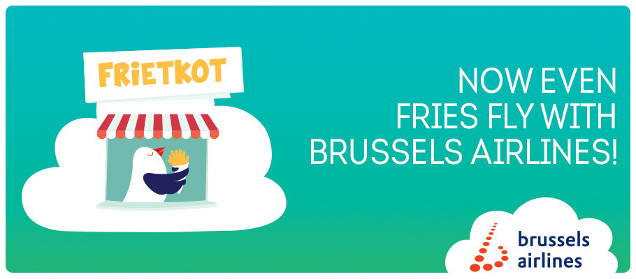 Fries fly with Brussels Airlines